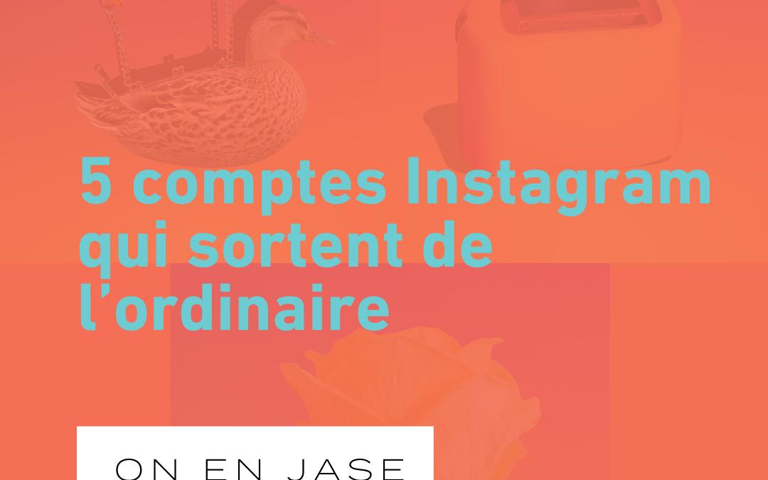 5 comptes Instagram qui sortent de l'ordinaire